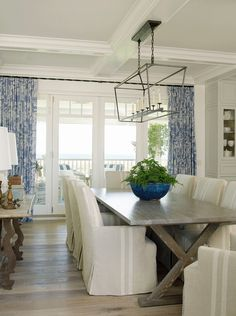 Latest Coastal Living ShowhouseThe dining table is by The Old Wood Co. and the…