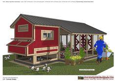 L105 - Chicken Coop Plans Construction Chicken Coop Design - How To Build A Chicken Coop L105 - Chicken Coop Plans Construction ...