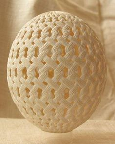 Wow wow wow! Etched and pierced egg.