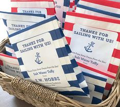 Salt Water Taffy Party Favors: Judah's Nautical First Birthday Party! | Disney Baby