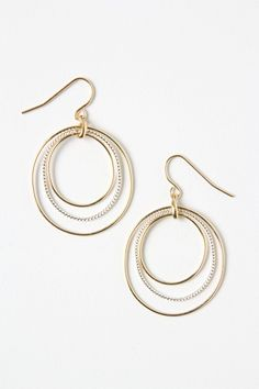 Graduated Halo Earrings from Anthropologie