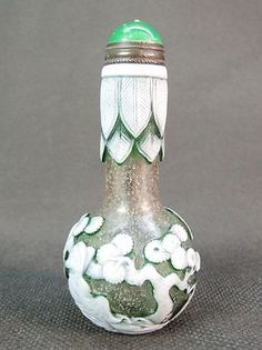 Chinese Two Elder Pine Tree Carved Peking Overlay Glass Snuff Bottle 4 • $19.00