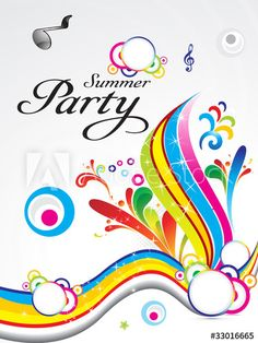 abstract summer party background concept
