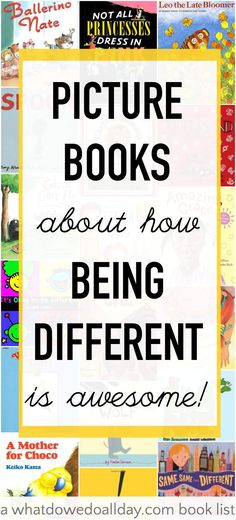 Children's books about being different. // Libros infantiles sobre ser diferente #books #children