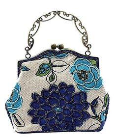 Ili Women S Vintage Evening Bag Luxury Printing Beaded Clutch Handbags On Blue Shoes Frequently Updated Comprehensive Online Ping