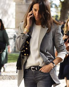 The real real French Style as lived by (please check stories for the full length photo bc her legs are too long for an… Preppy Style, My Style, French Style, Scott Schuman, Shops, Sartorialist, Ootd, Trends, French Fashion