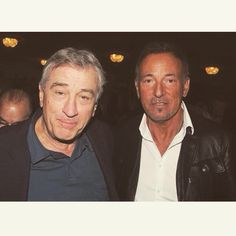 Robert DeNiro and Bruce Springsteen
