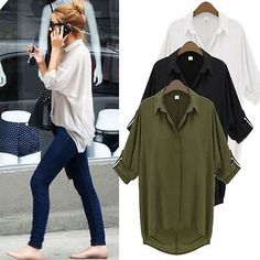 New womens blouse new chiffon long sleeve ladies top t #shirt #loose #short tops,  View more on the LINK: http://www.zeppy.io/product/gb/2/121847236611/