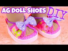 How to make gorgeous AG Doll shoes - DIY Doll shoes. DIY AG Doll Stuff music: Get Outside by Jason Farnham Jack in the Box by Silent Partner Muebles American Girl, Ropa American Girl, American Girl Doll Room, American Girl Crafts, American Doll Clothes, Diy Ag Dolls, Diy Doll, Ag Doll Crafts, Doll Shoe Patterns