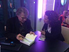 """Avec Daniel Pennac~après la première lecture publique de """"Journal d'un corps"""" mise en scène de Clara Bauer. Maison des Metallos, Paris"""