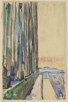Parthenon, Athens, perspective of the colonnade and the landscape by Le Corbusier :: 1911 E Design, Graphic Design Art, Walter Gropius, Nyc Art, Artist Sketchbook, Landscape Illustration, Landscape Watercolour, Modern Landscaping, Wassily Kandinsky