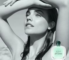 Barbara Palvin was the face of Giorgio Armani's 'Acqua di Gioia' fragrance line. With three scents inspired by elements such as sun, air and water, Barbara is all smiles in the Karim Sadli lensed advertisements for Barbara Palvin, Emporio Armani, Giorgio Armani Perfume, Emily Didonato, Perfume Carolina Herrera, Aqua, Campaign Fashion, Armani Beauty, New Fragrances