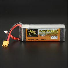 27.54$  Buy here  - Original Reachargeable Lipo Battery ZOP Power 14.8V 4500mAh 4S 45C Lipo Battery XT60 Plug RC Toys Models