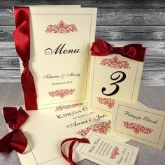 Olivia ze wstążką - Olivia bordo ze wstążką 18 Menu, Gift Wrapping, Drinks, Gifts, Menu Board Design, Paper Wrapping, Wrapping Gifts, Drink, Gift Packaging