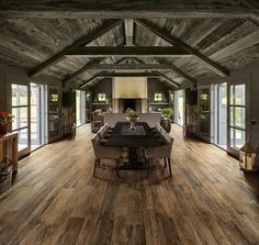Shaded throughout as are natural wood planks, Barn Wood yields an amazing natural look to spaces when layed onto floors and walls. Perfect for a wood dining room floor. Wood Plank Tile, Wood Tile Floors, Wood Planks, Wood Floor, Background Tile, Weekend House, Outdoor Tiles, Wood Ceilings, Dom