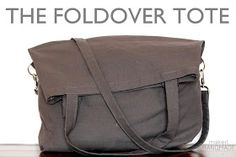 The foldover tote: free tutorial for a fun bag that carries a lot or just a little! #free #sewing #tutorial   www.makeithandmade.com