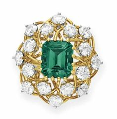 18c2d5afb AN EMERALD AND DIAMOND RING, BY JEAN SCHLUMBERGER, TIFFANY & CO.