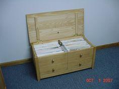 Wood 12x12 Paper Storage Box - Scrapbook.com