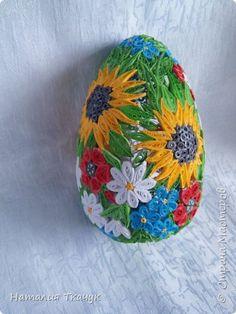 Поделка изделие Пасха Квиллинг Сувенирные пасхальные яйца Бумажные полосы фото 5