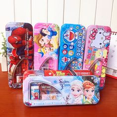 The new Double layerKindergarten children's cartoon pencil box set wholesale stationery student prizes courses Gifts