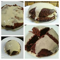 This is my high protein 5 minute cake with vanilla protein frosting. Just 430 calories and 60g of protein!