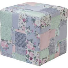 Hocker Patchwork Powder 40x40cm