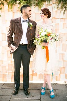 Literary Love – A Bright and Quirky Mid-Century Vintage Wedding Shoot Inspired by Penguin Books