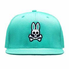 231bb0efdf7 Psycho Bunny Everyday Flat Brim Snapback Hat in Corsica Bunny Hat