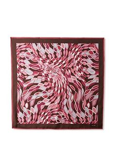Tom Ford Women's Patterned Silk Scarf, Pink/Magenta/Gray