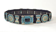 Vintage 1960s Old Pawn Navajo Sterling Silver and Turquoise Concho Belt on Etsy, $3,295.00