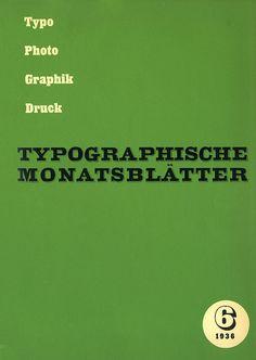 TM Typographische Monatsblätter, issue 6, 1936