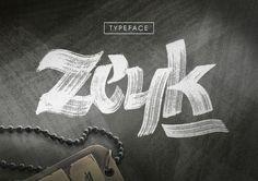 Zeyk Brush Typeface by juanpablo.bello on @creativemarket
