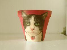 #custompetportrait #catflowerpot #flowerpot #petportrait #plants #catportrait #pets #painting #art #petpainting