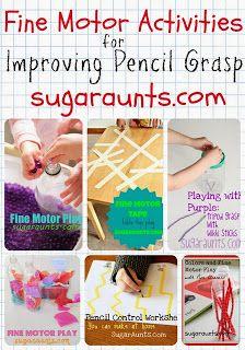 12+ idées d'activités pour développer la motricité fine, surtout pour promouvoir la bonne façon de tenir son crayon
