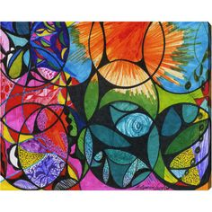 Equally at home in an artful collage or on its own as an eye-catching focal point, this hand-stretched canvas print showcases an imaginative abstract motif. ...