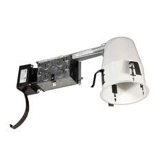 """Jesco Lighting LV4000RA 1 Light Halogen 4"""" Remodel Recessed Housing White Recessed Lights Recessed Housings Remodel"""
