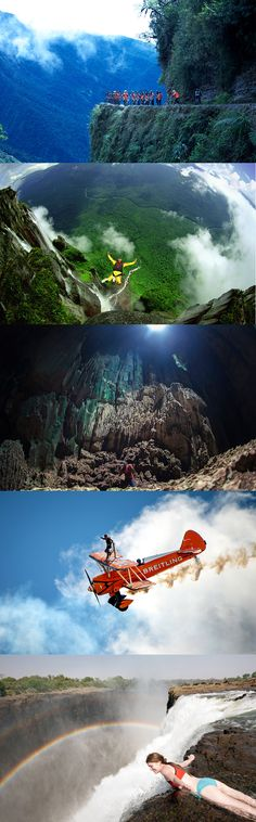 Just a few things for the travel bucket list...The World's Scariest Extreme Sports   Gallery