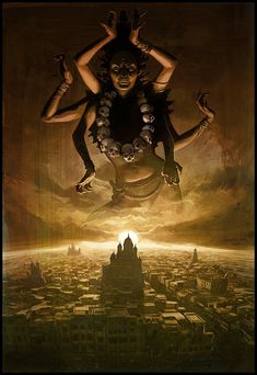 kali - represents the dark anger but also compassion of Ge.