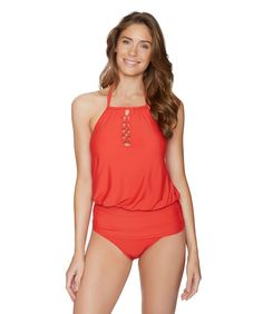 fc887929474d8 This bright red tankini will have you ready to be poolside. The Athena  Cabana Solids