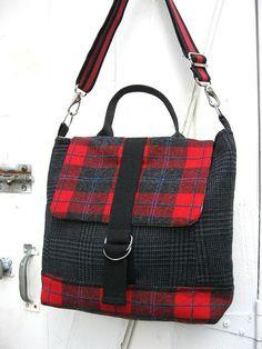 Messenger Bag Satchel Travel Bag Macbook Laptop  by LilyWhitepad