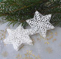 Hvězdičky bílé 6 ks