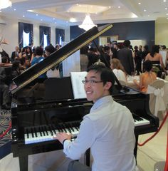 Melbourne pianist Calvin Leung performing