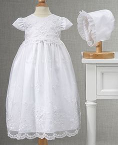 Lauren Madison Baby Girls Gown, Baby Girls Embroidered Christening Gown - Kids - Macy's