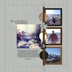 Divine #Digital #Scrapbooking Layout from Creative Memories    http://www.creativememories.com