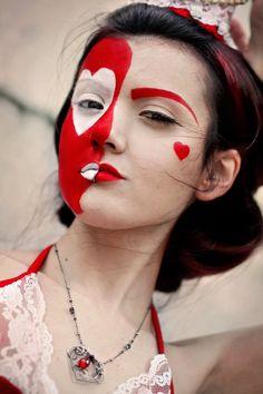 red makeup Queens: Hearts vs Spades 11 by Flutterbybybye.deviantart.com on @deviantART