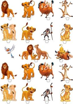 40 The Lion King Birthday Party Cup Cake Edible Wafer Rice Toppers Stand up non-cut Le Roi Lion Disney, Disney Lion King, Images Roi Lion, Lion King Musical, Lion King Pictures, Lion King Party, Lion King Birthday, Lion King Baby Shower, Lion King Cakes