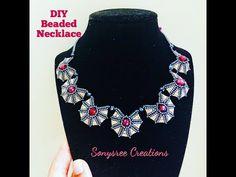 Beaded necklace. Egyptian inspired - YouTube