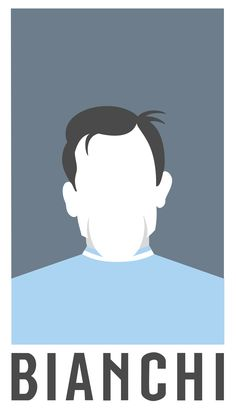 An illustration of Fausto Coppi created using Sketch