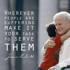 suffering serve others service Pope John Paul II