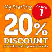 20% Discount at Participating Restaurants